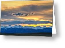 Colorado Rocky Mountain Front Range Sunset Gold Greeting Card