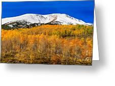 Colorado Rocky Mountain Independence Pass Autumn Pano 2 Greeting Card