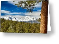 Colorado Rocky Mountain View Greeting Card