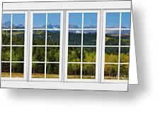 Colorado Rocky Mountains White Window Frame View Greeting Card