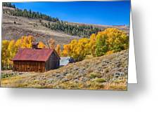 Colorado Rustic Rural Barn With Autumn Colors  Greeting Card