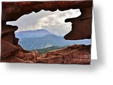 Colorado Siamese Twins Pikes Peak View Greeting Card
