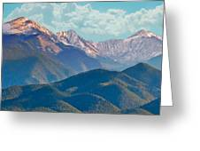 Colorado Sideroad Mountains Greeting Card