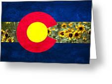 Colorado State Flag In Van Gogh Greeting Card
