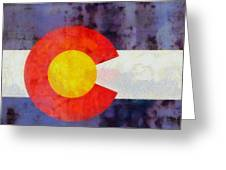 Colorado State Flag Weathered And Worn Greeting Card