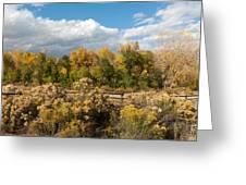 Colorado Urban Autumn Landscape Greeting Card