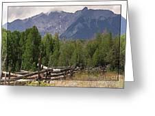 Colorado Wilson Peak Clouds Greeting Card