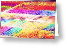 Colorburst Landscape Greeting Card