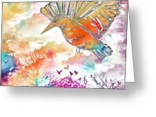 Colored Bird Greeting Card