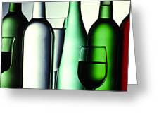 Colored Bottles Greeting Card