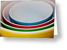 Colored Ceramic Bowls Greeting Card