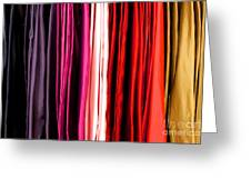 Colored Cloth Greeting Card