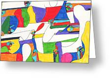 Colored Columns Greeting Card by Ellen Howell