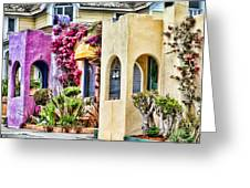 Colored Cottages By Diana Sainz Greeting Card