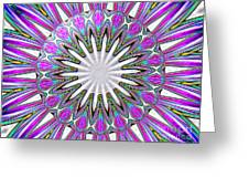 Colored Foil Lily Kaleidoscope Under Glass Greeting Card