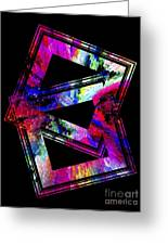 Colored Geometric Art Greeting Card by Mario Perez