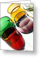 Colored Glasses At An Angle Greeting Card