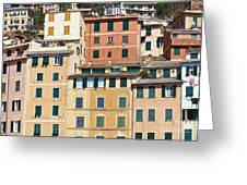 Colored Italian Facades Greeting Card
