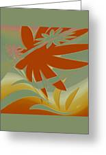 Colored Jungle Orange Splash Greeting Card