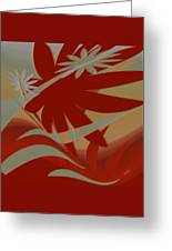 Colored Jungle Red Greeting Card