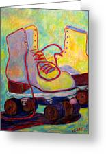 Colored Lights All Over My Skates Greeting Card
