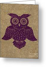 Colored Owl 1 Of 4  Greeting Card