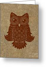 Colored Owl 2 Of 4  Greeting Card