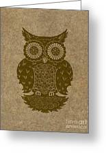 Colored Owl 3 Of 4  Greeting Card