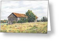 Colored Pencil Barn Greeting Card
