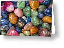 Colored Polished Rocks Greeting Card