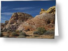 Colored Rocks Greeting Card by T C Brown