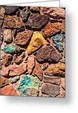 Colored Stone Rock Church Wall - Cedar City - Utah Greeting Card