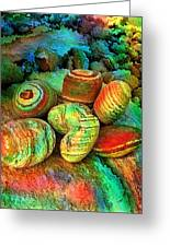 Colored Stones By Rafi Talby   Greeting Card