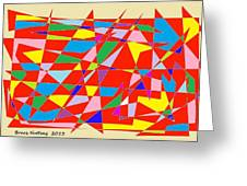 Colored Triangles Greeting Card