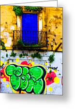 Colored Wall Greeting Card