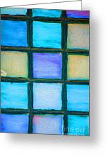 Colored Window Panes Greeting Card