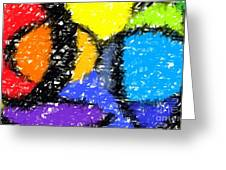 Colorful Abstract 3 Greeting Card