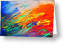 Colorful Abstract Acrylic Painting Greeting Card