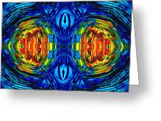 Colorful Abstract Art - Parallels - By Sharon Cummings  Greeting Card
