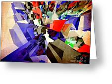 Colorful Abstract Geometric Cluster Greeting Card