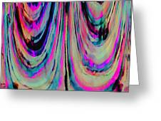 Colorful Abstract W Greeting Card