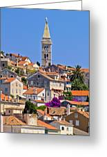 Colorful Adriatic Town Of Losinj Greeting Card