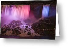 Colorful American Falls Greeting Card by Adam Romanowicz