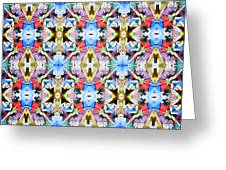 Colorful Angles Pattern Greeting Card