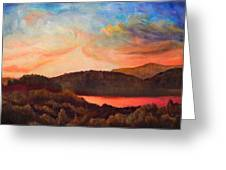 Colorful Autumn Sunset Greeting Card