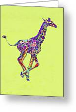 Colorful Baby Giraffe Greeting Card