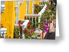 Colorful Balconies Greeting Card