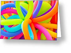 Colorful Balloons Background Greeting Card