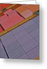 Colorful Bars Soap On Market In Provence Greeting Card