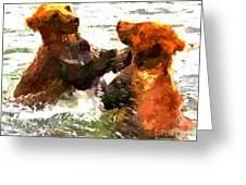 Colorful Bears Greeting Card